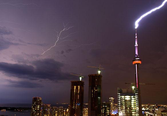 CN Tower Hit by Lightning