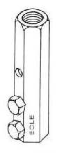 BB8B Cable to Threaded Rod Bolt Base