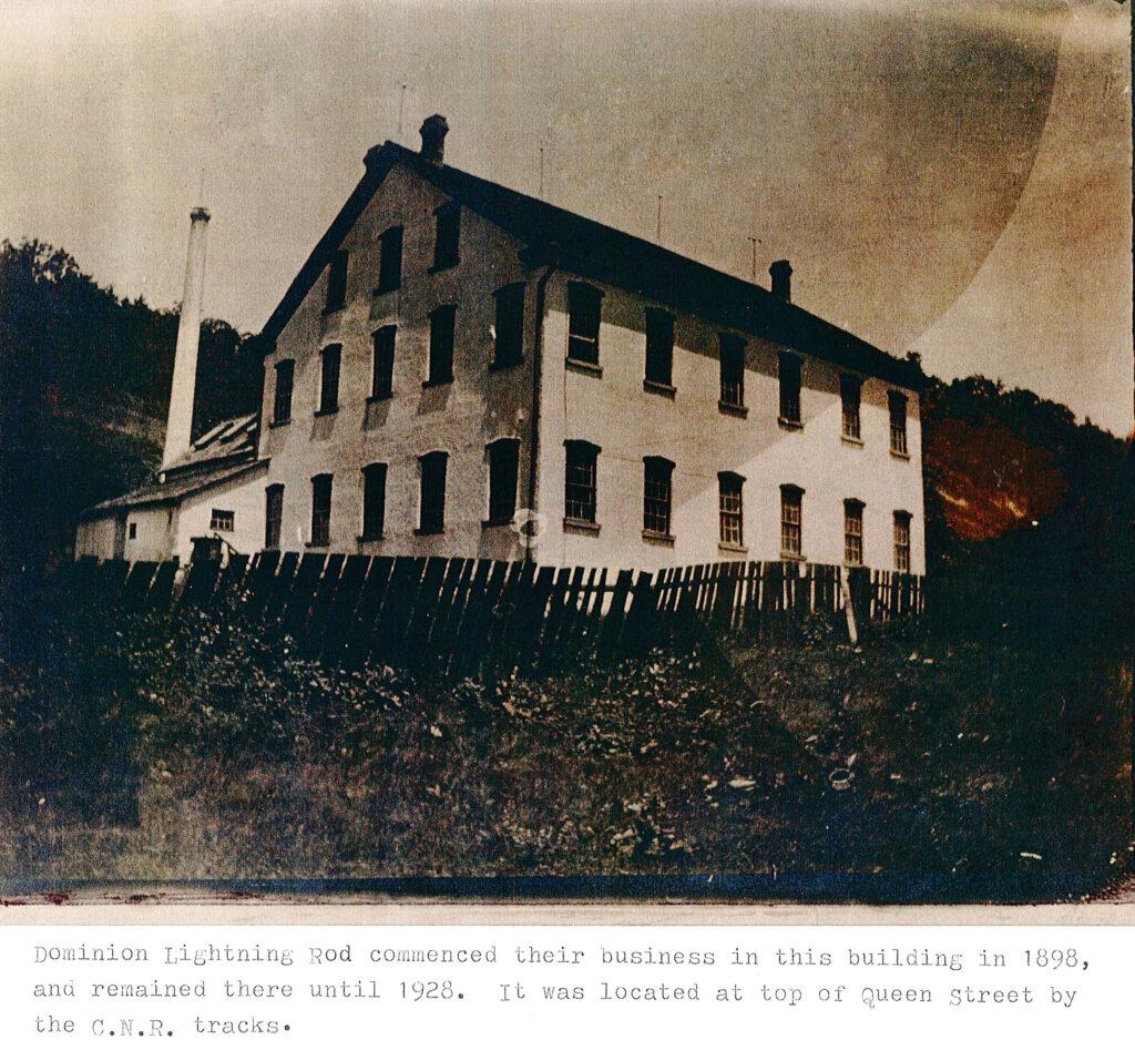 Original Dominion Lightning Rod building