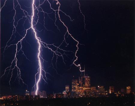 Lightning striking Toronto