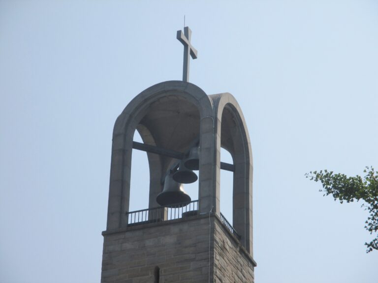 Lightning protection system install on church bell tower