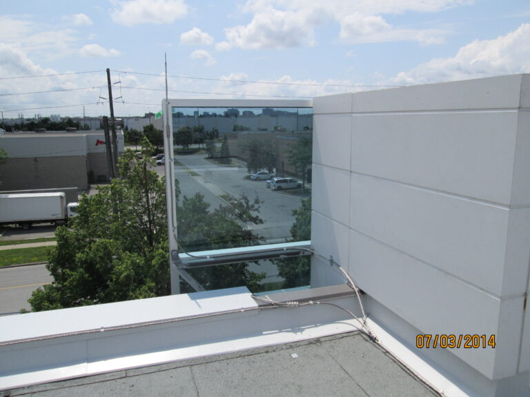 Lightning protection on commercial building